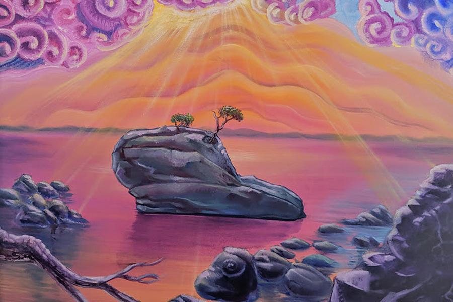 Bonsai Rock Painting - Bonsai Rock Sunset by Craig Newman