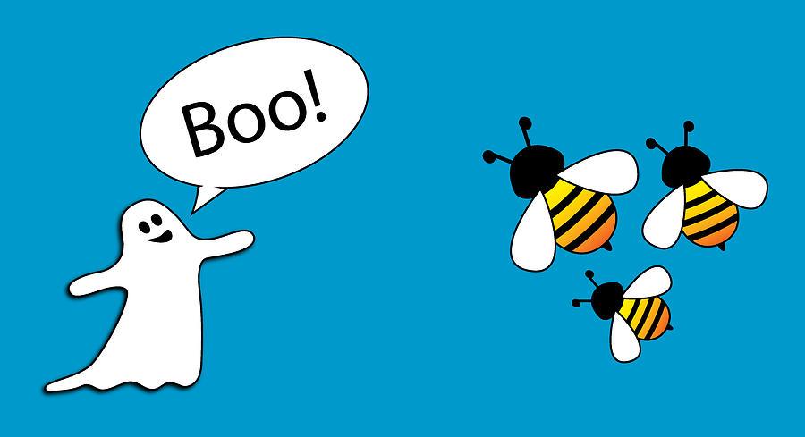 Hilarious Digital Art - Boo Bees by Pelo Blanco Photo