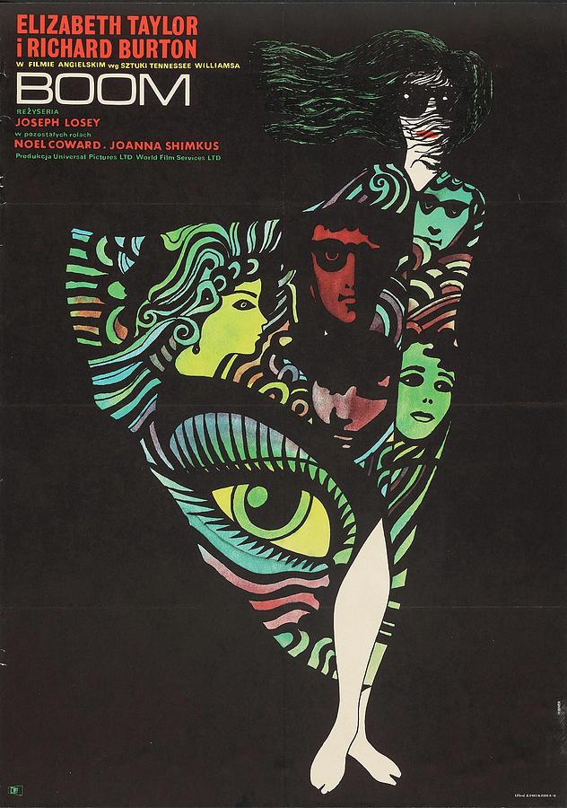 boom Movie Poster 1970 Mixed Media