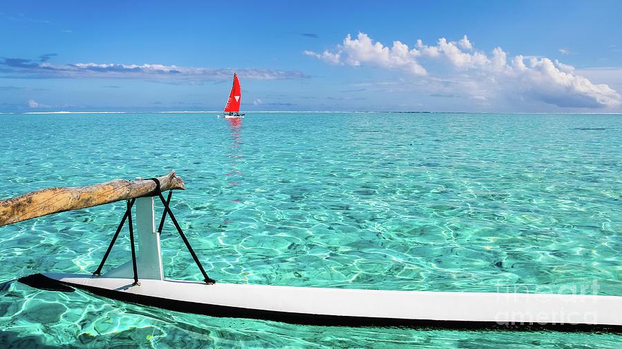 Bora Bora Lagoon, Pirogue versus Catamaran by Lyl Dil Creations