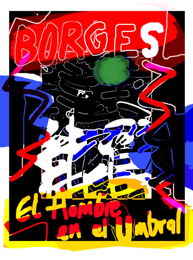 borges man on threshold  poster  by Paul Sutcliffe
