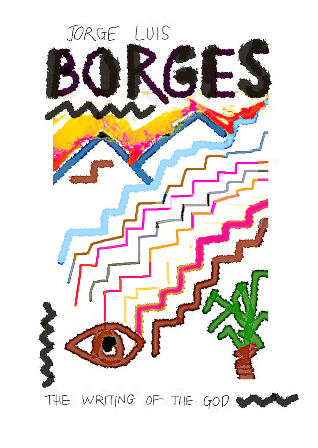 borges writing poster  by Paul Sutcliffe