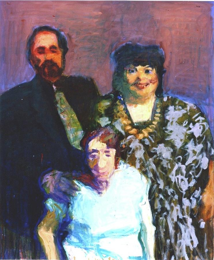 Family Portrait Painting - Boris, Tracy, and Polya by Galya Tarmu