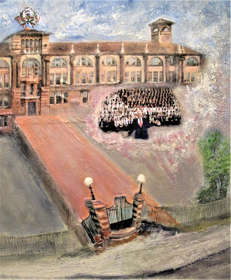 Boroughmuir Old School Detail  Two Painting
