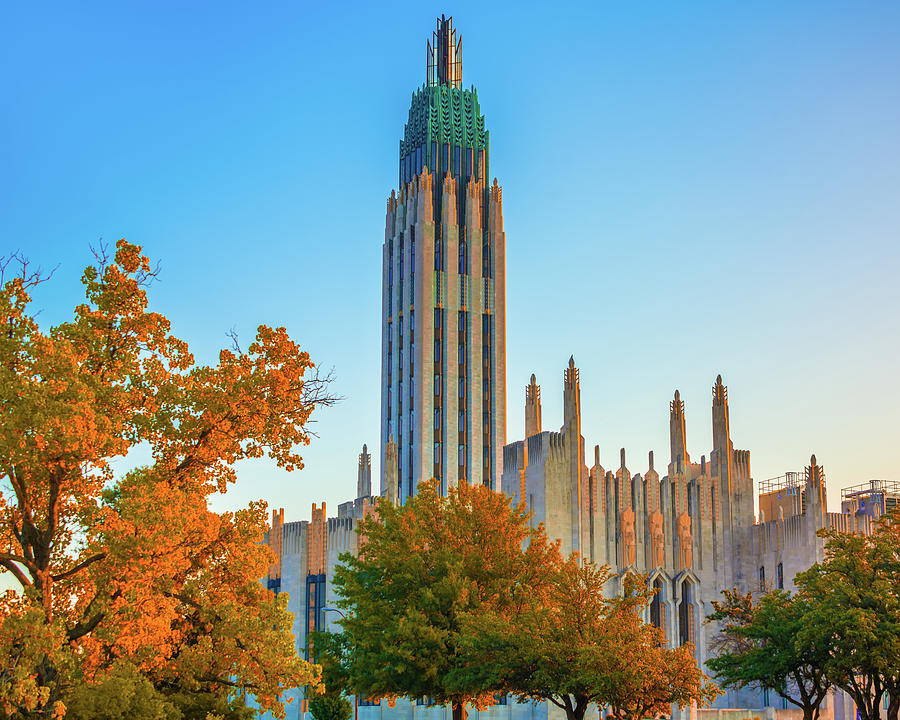 Boston Avenue United Methodist In Autumn - Tulsa Oklahoma Photograph