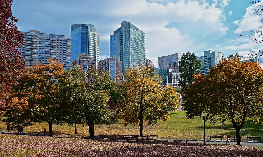 Boston Downtown Park by Frozen in Time Fine Art Photography