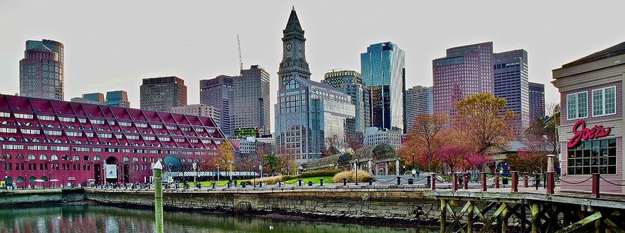 Boston Pano Overlooking Christopher Columbus Park by Frozen in Time Fine Art Photography