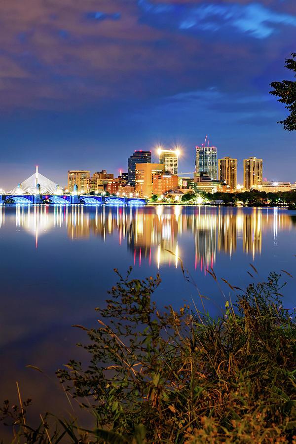 Boston Skyline On The Water Photograph