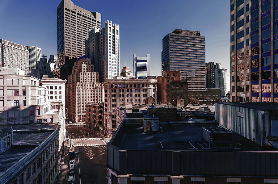 Boston Skyline, United States 2 - Surreal Art By Ahmet Asar Digital Art