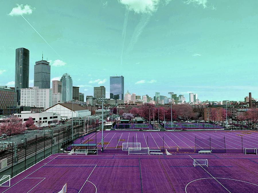 Boston Skyline, United States 3 - Surreal Art By Ahmet Asar Digital Art