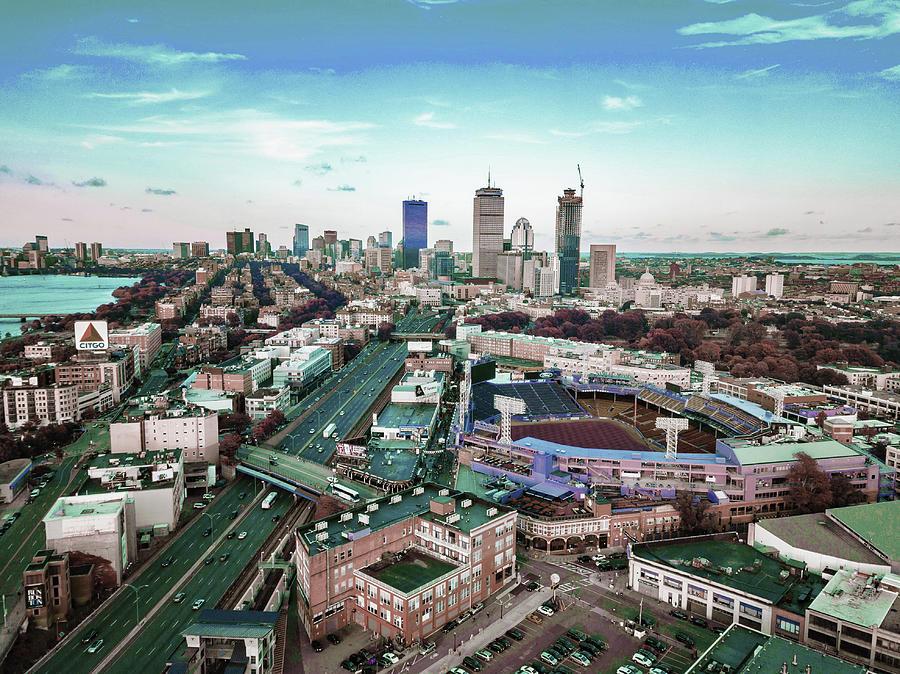 Boston Skyline, United States 4 - Surreal Art By Ahmet Asar Digital Art