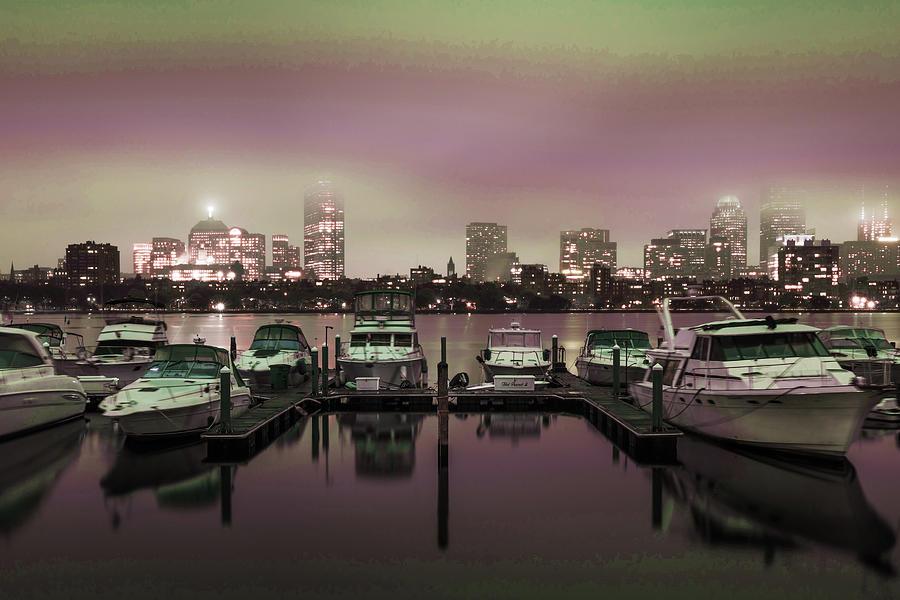 Boston Skyline, United States 6 - Surreal Art By Ahmet Asar Digital Art