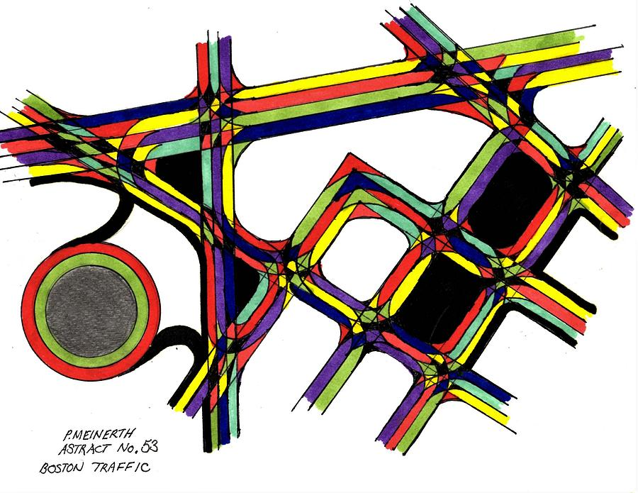 Boston Traffic Drawing