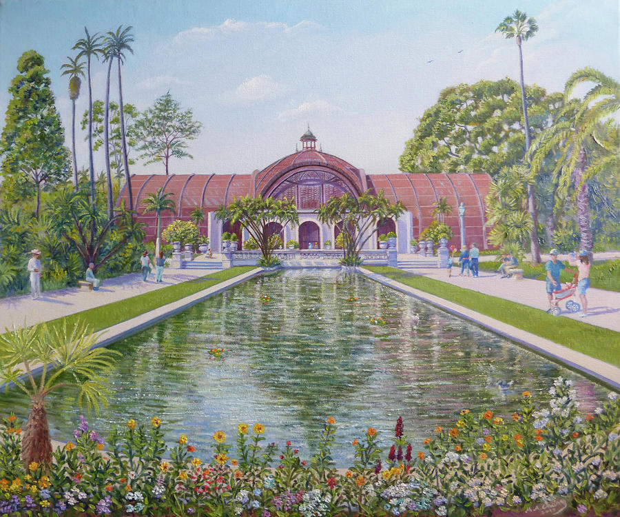 Botanical Garden Balboa Park Painting By Miguel A Chavez