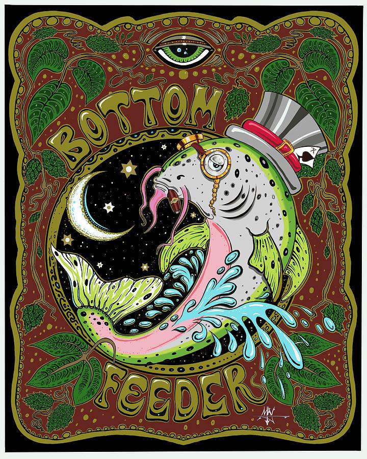 Bottom Feeder Digital Art - Bottom Feeder by Robert Fenwick May Jr