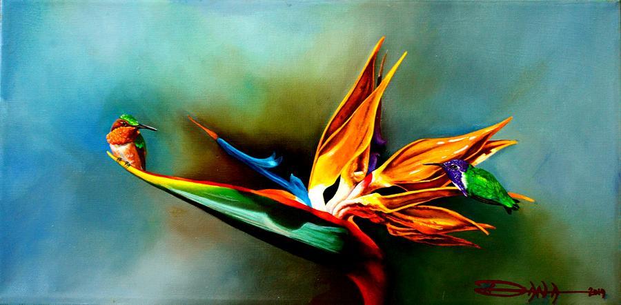 Birds Painting - Boundaries by Dana Newman