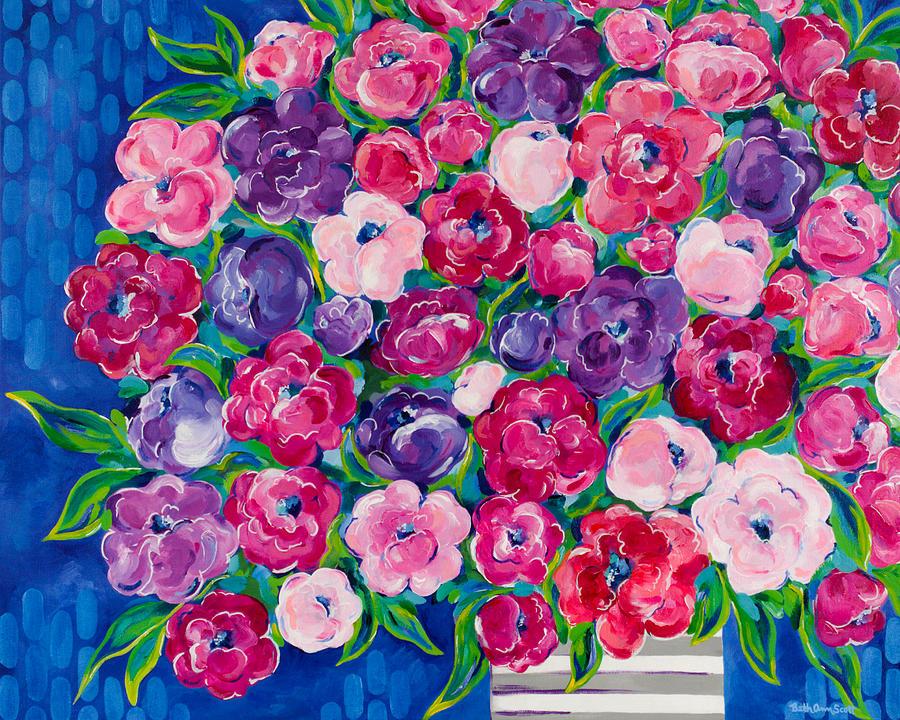 Flower Bouquet Painting - Bountiful by Beth Ann Scott