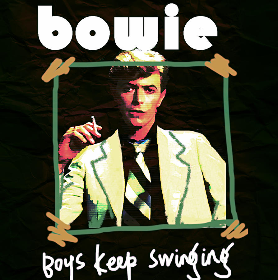 Bowie Boys Keep Swinging 1979 by Enki Art