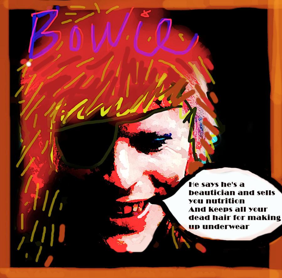 Bowie Jean Genie 1973  by Enki Art