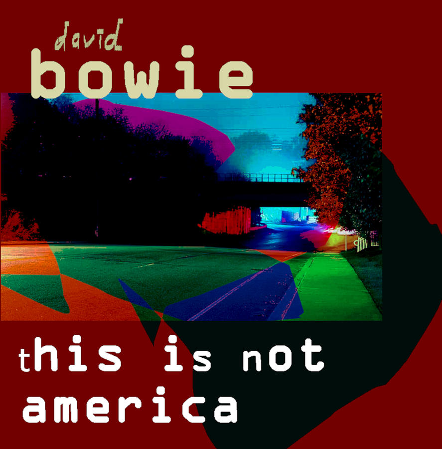 Bowie Not America 1985 Single Mixed Media