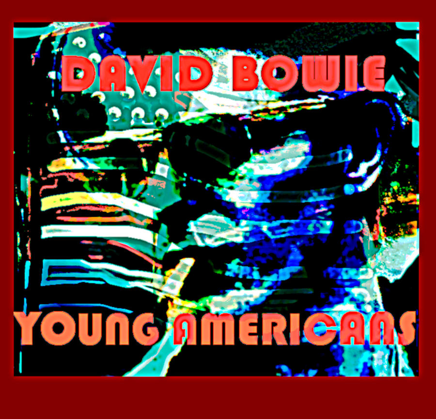 Bowie Young Americans 1975  by Enki Art