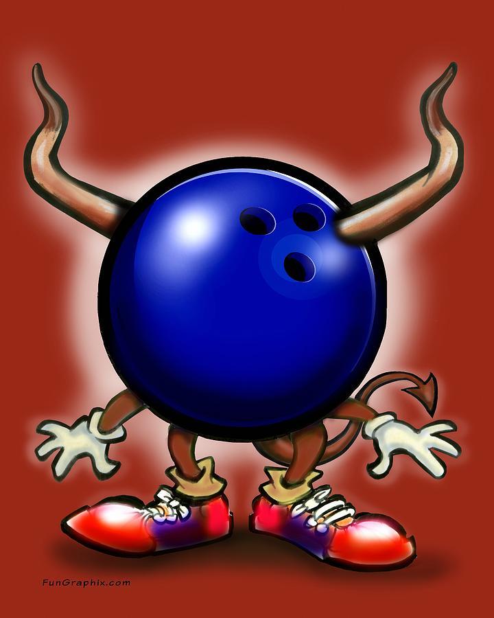 Bowling Demon Digital Art