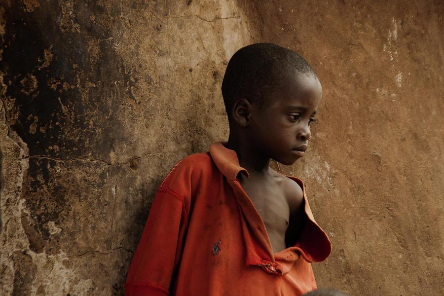 Boy In Red Shirt Photograph by Vicky Markolefa