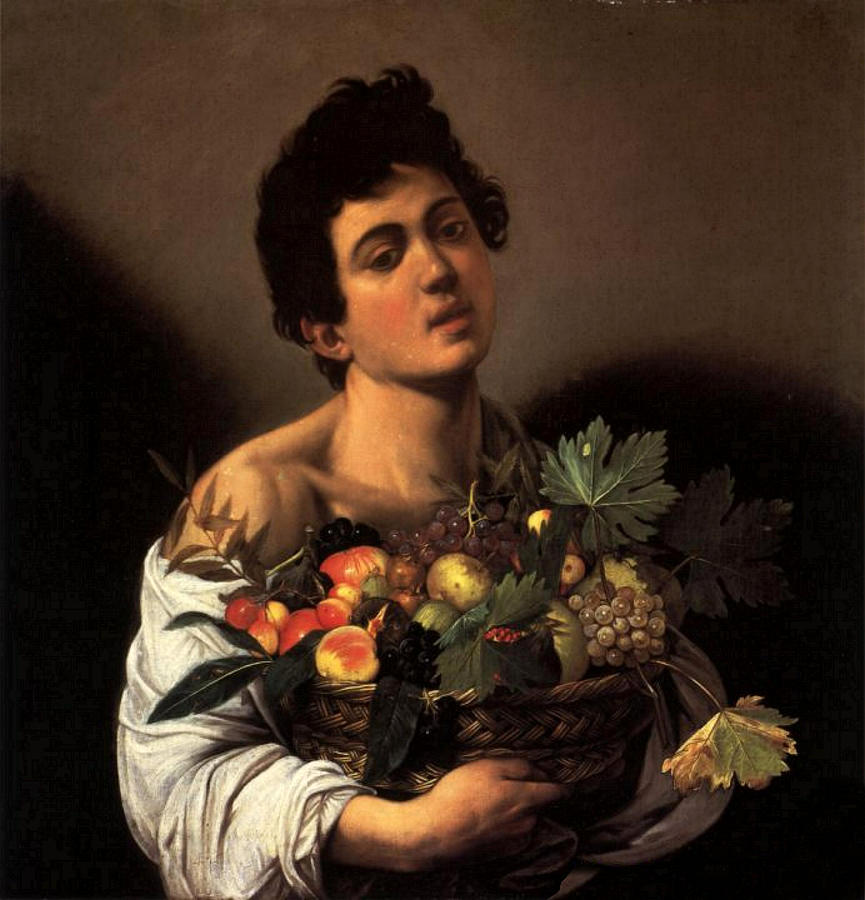 Boy with a Basket of Fruit  by Michelangelo Caravaggio