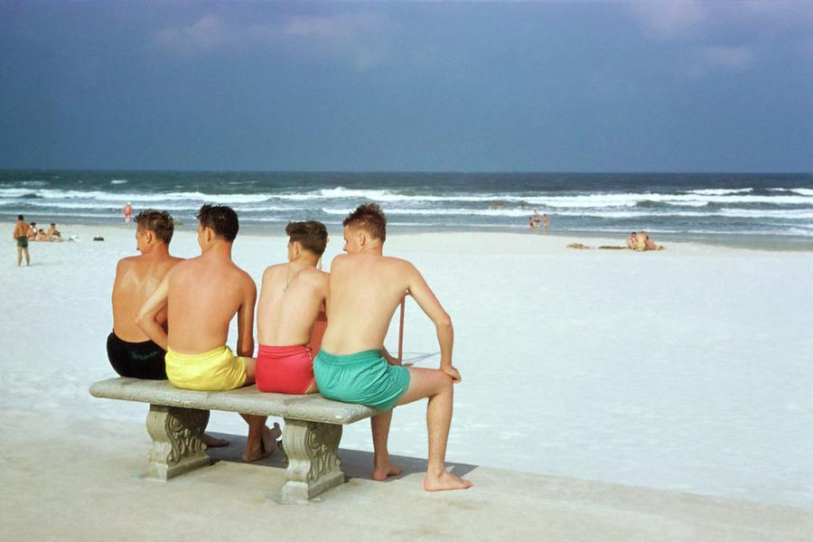 Boys at a Florida Beach Photograph by Robert Christie