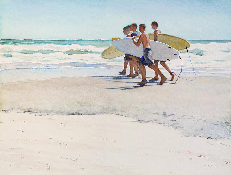 Beach Painting - Boys Of Summer by Christopher Reid