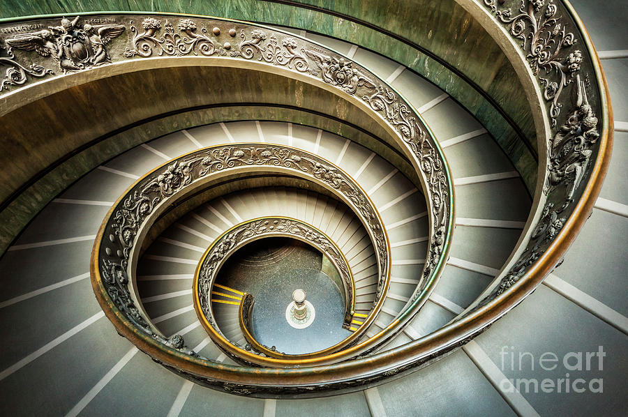 Bramante Spiral Staircase Vatican City by Neale And Judith Clark