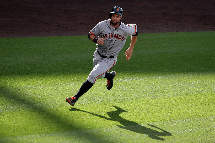Brandon Crawford and Brandon Belt Photograph by Doug Pensinger