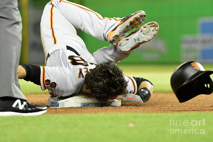 Brandon Crawford and Buster Posey Photograph by Eric Espada