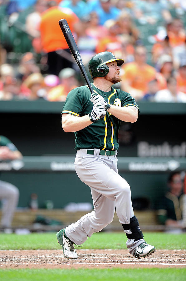 Brandon Moss Photograph by Greg Fiume