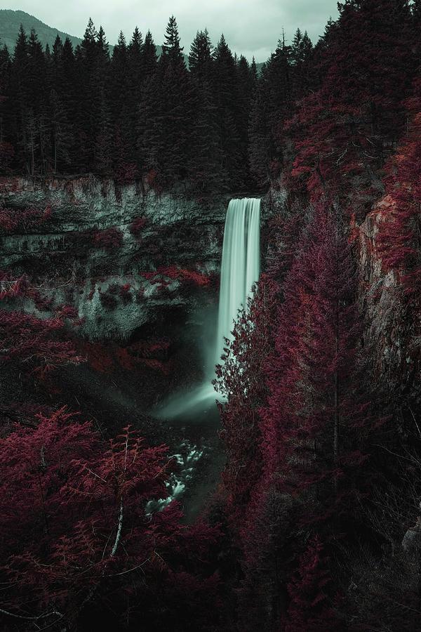 Brandywine Falls Lookout Trail, Whistler, Bc, Canada - Surreal Art By Ahmet Asar Digital Art