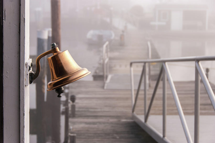 Brass Bell At Ferry - Foggy Morning Photograph