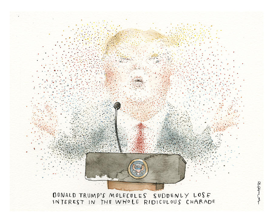 Breaking News From the White House Painting by Barry Blitt