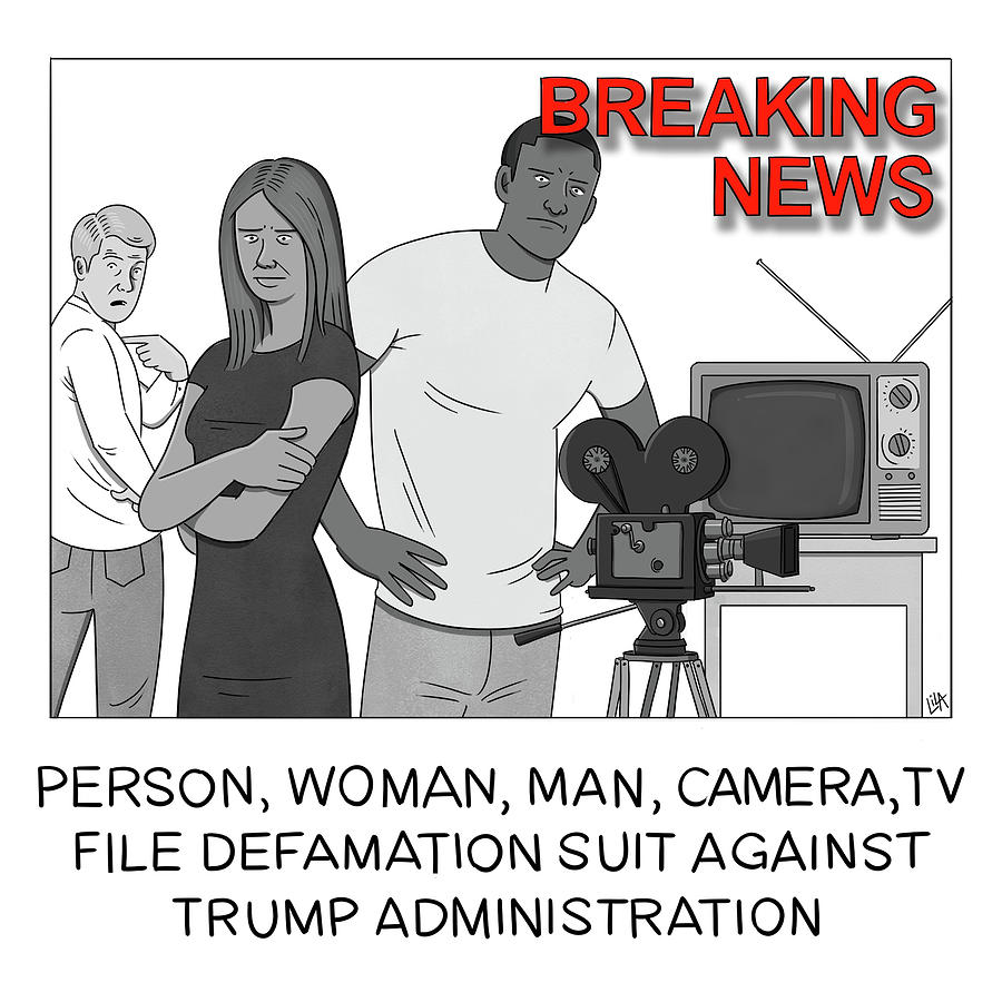 Breaking News Drawing by Lila Ash
