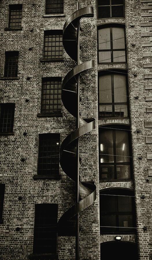 Brick Warehouse Monochrome Photograph
