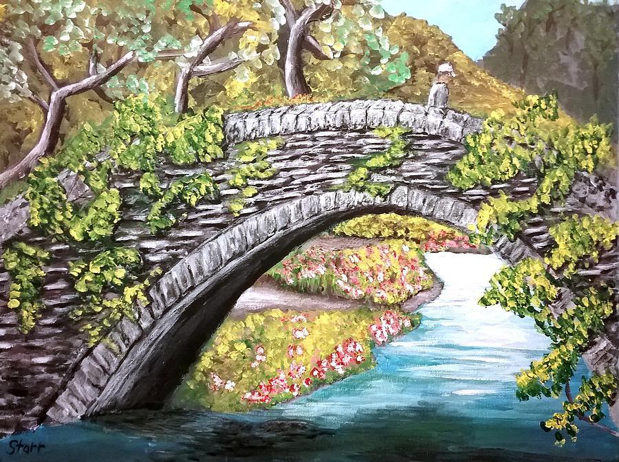 Bridge Over A Creek Painting