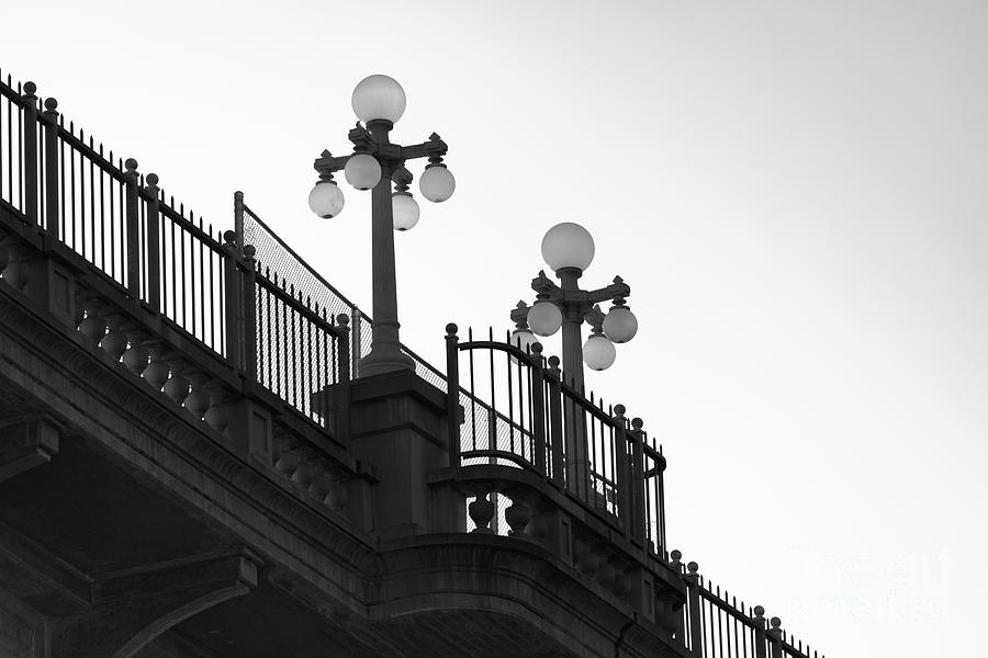 Bridge Lamps Out Of Time Photograph