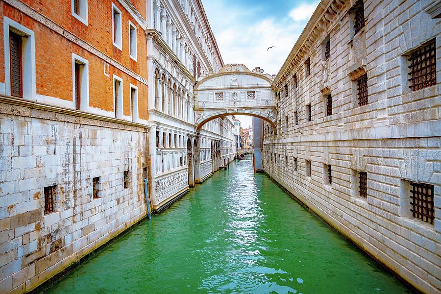 The Bridge Of Sighs in Venice -2- by Debbie Ann Powell