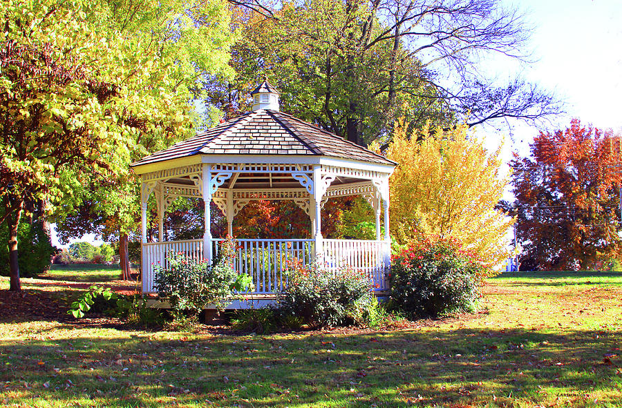 Pavilion Photograph - Bridgeton Park by John Lautermilch