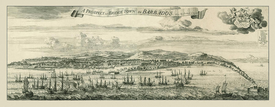 Bridgetown Barbados 1695 Photograph