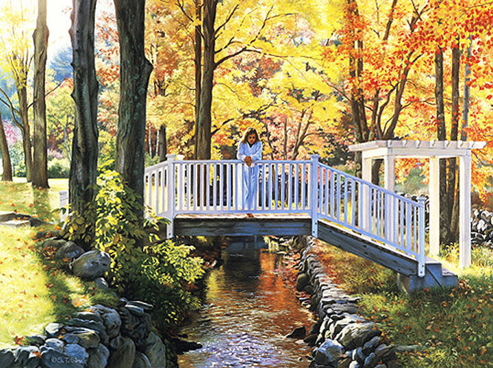 Fall Painting - Bridging The Seasons by Tom Sierak