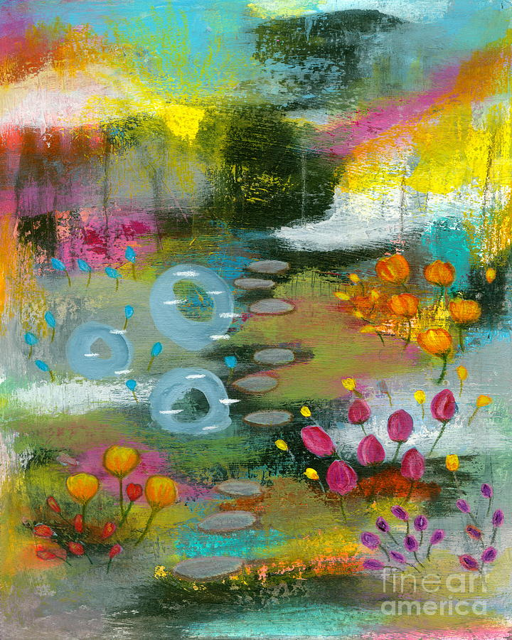 Abstract Landscape Painting - Bright Curiosity 2 Abstract Landscape Art by Itaya Lightbourne