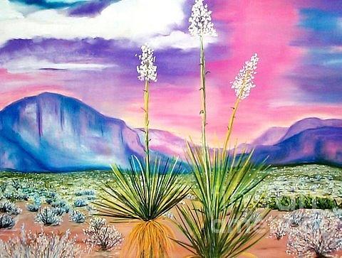 Desert Painting - Bright Desert by Melinda Etzold