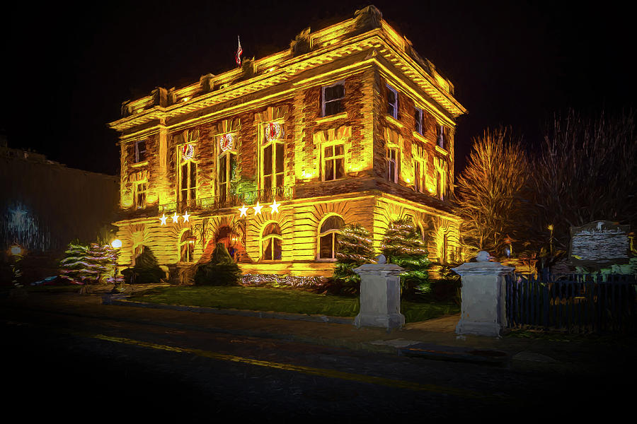 Bristol Post Office and Custom House at Christmas 2 by Greg Booher