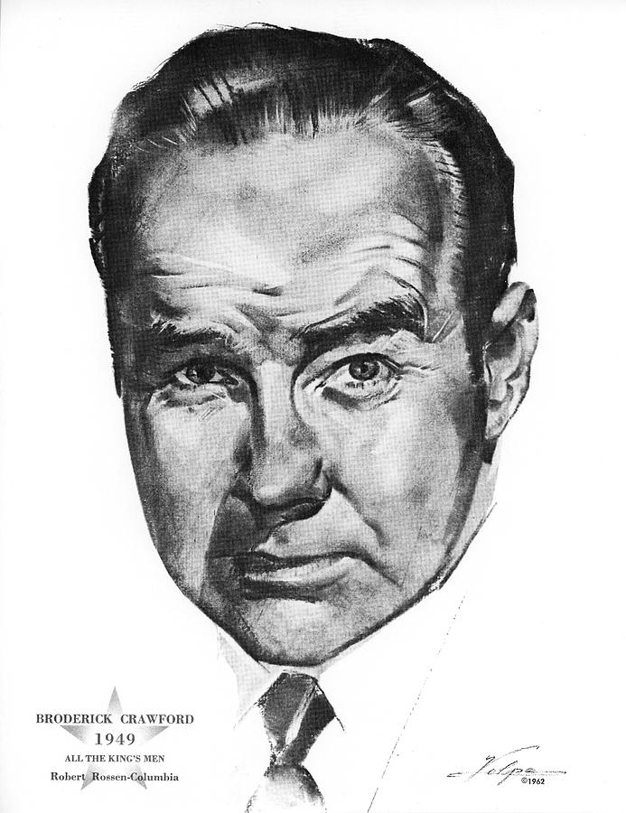 Broderick Crawford By Volpe Drawing