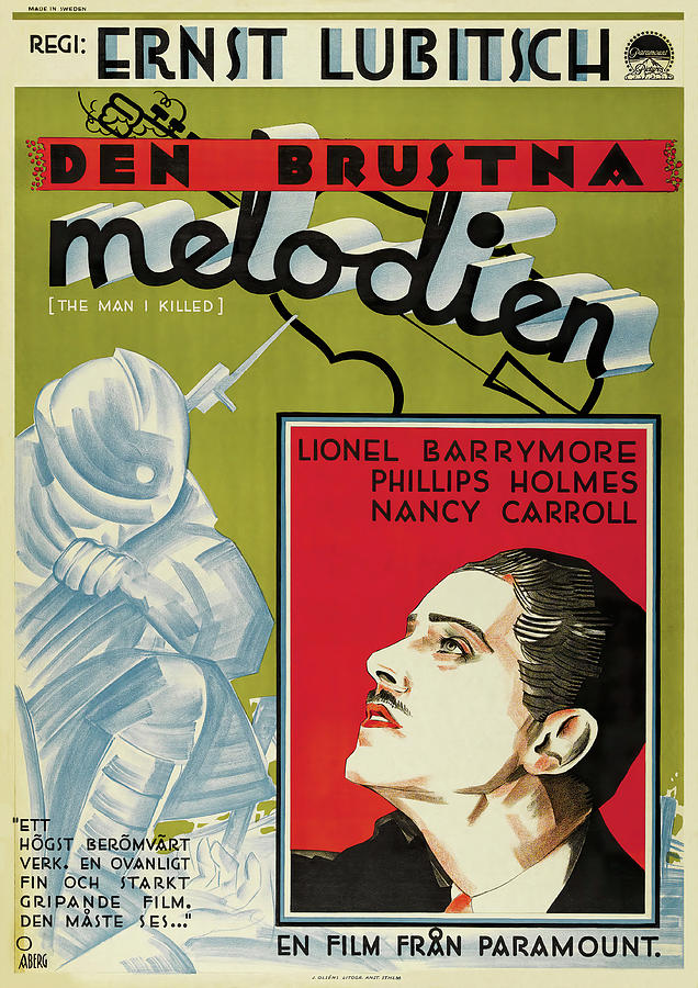 broken Lullaby, With Lionel Barrymore, 1932 Mixed Media